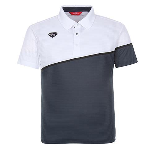[팬텀]남성 컬러블럭 카라 반팔 티셔츠 21172TO019_WH