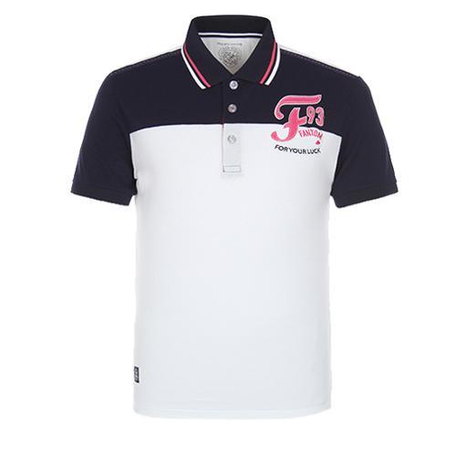 [팬텀]남성 배색 카라 반팔 티셔츠 21172TO047_IV