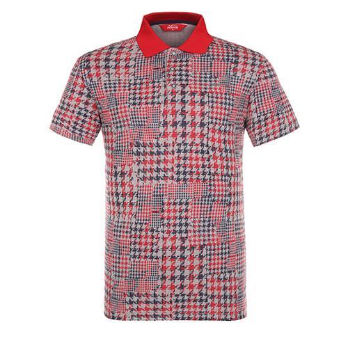 [팬텀]남성 하운드 투스 체크 카라 반팔 티셔츠 21172TO035_RE