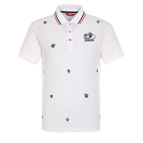 [팬텀]남성 자수 카라 반팔 티셔츠 21172TO037_WH