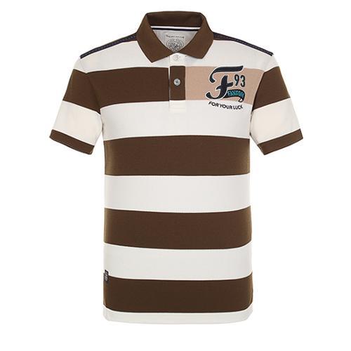 [팬텀]남성 와이드 스트라이프 카라 반팔 티셔츠 21172TO050_KH