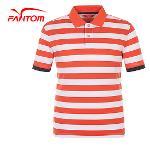 [팬텀]남성 컬러블록 스트라이프 카라 반팔 티셔츠 21162TO022_OR