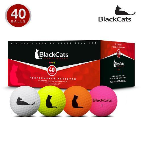 블랙캣츠 액션I 무광컬러혼합 40알 골프공