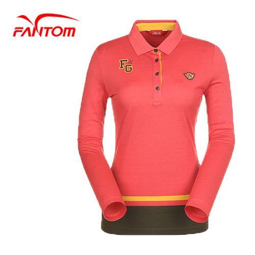 [팬텀]여성 베이직 컬러 로고 카라 티셔츠 22151TO064_CO