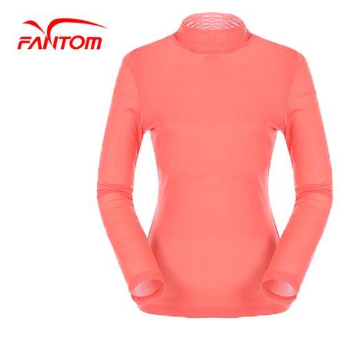 [팬텀]여성 솔리드 배색 슬림 핏 라인 이너 티셔츠 22151TI084_CO
