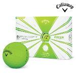 2019 캘러웨이 슈퍼소프트 볼드 골프공 12알 그린 골프볼 CALLAWAY SUPER SOFT BOLD BALL