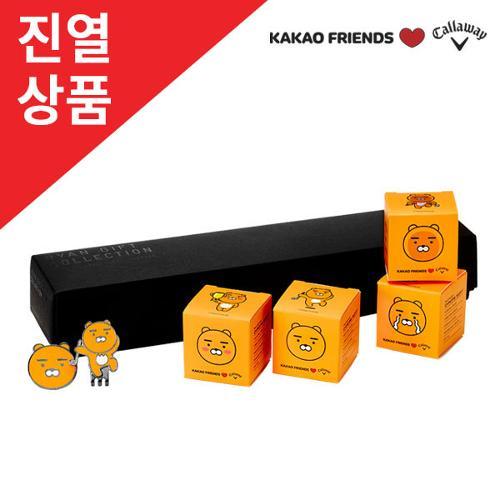 [전시상품]카카오프렌즈X캘러웨이 크롬소프트 골프공(4알+볼마커)