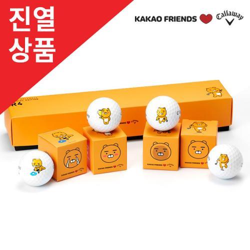 [전시상품]카카오프렌즈X캘러웨이 크롬소프트 골프공(4알)