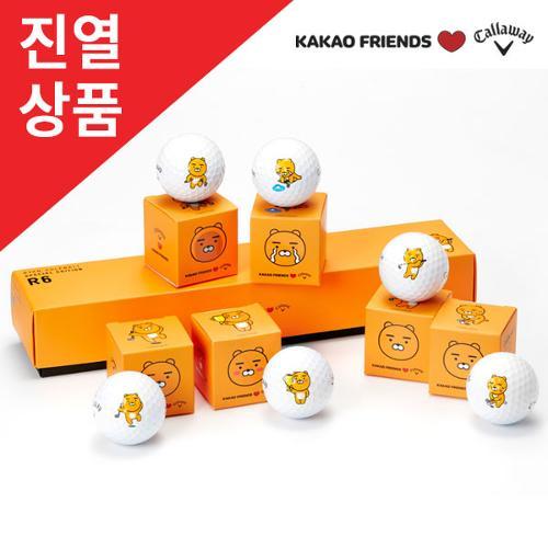 [전시상품]카카오프렌즈X캘러웨이 크롬소프트 골프공(6알)