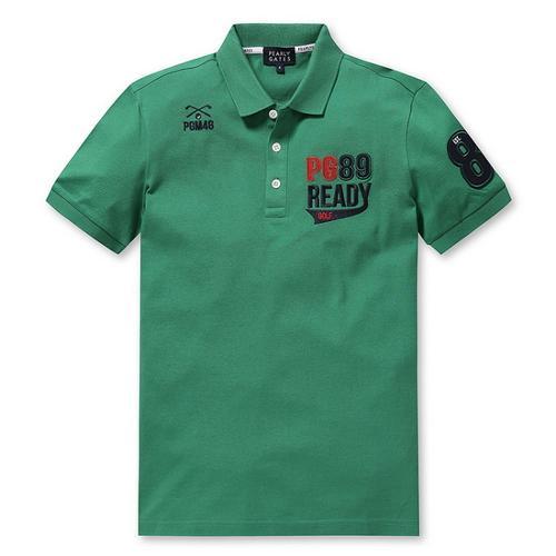 [파리게이츠]남성 배색 로고 반팔 폴로 티셔츠 51272TS903_GN