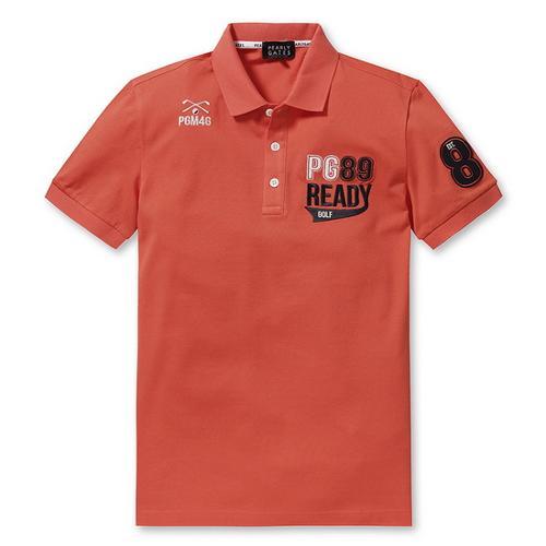 [파리게이츠]남성 배색 로고 반팔 폴로 티셔츠 51272TS903_OR