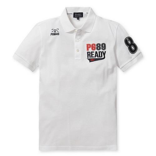 [파리게이츠]남성 배색 로고 반팔 폴로 티셔츠 51272TS903_WH