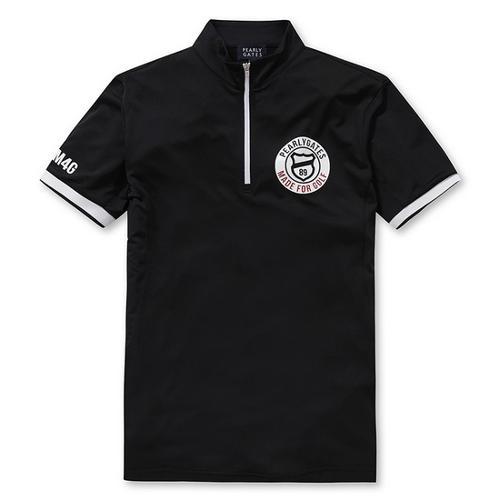 [파리게이츠]남성 스포티 반집업 반팔 티셔츠 51272TS900_BK
