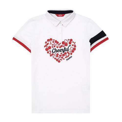 [팬텀]여성 하트 패턴 반팔 티셔츠 22172TO054_WH