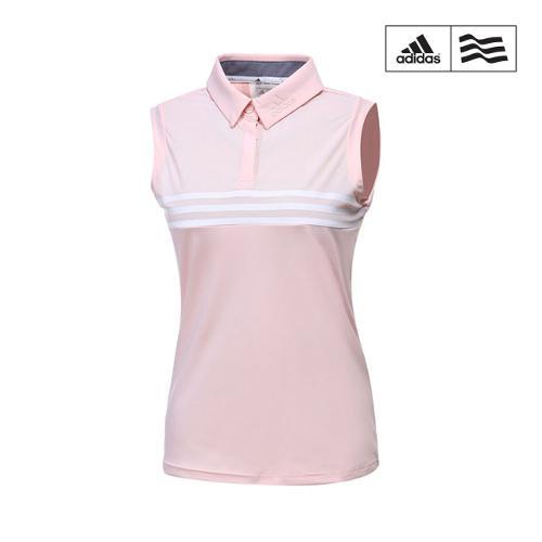[아디다스골프] 여성 클라마이쿨 삼선포인트 민소매 티셔츠 CW1511_GA