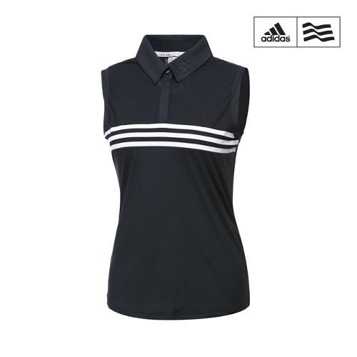 [아디다스골프] 여성 클라마이쿨 삼선포인트 민소매 티셔츠 CW1512_GA