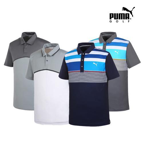[푸마골프] 남성 컬러 PK 반팔 티셔츠 4종 택1_GA