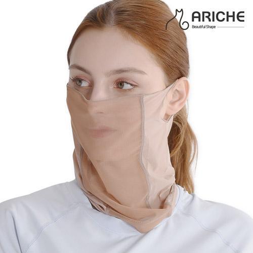 [아리체]여성 UV차단 커피 안면 귀걸이 쿨토시/여성 골프/자외선차단/등산
