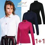 [그렉노먼] 봄 간절기로 딱 여성 카라넥 긴팔티셔츠 2종세트/골프웨어_243679