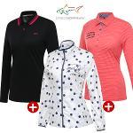 [그렉노먼] 봄 데일리 여성 티셔츠 + 바람막이 자켓 3종세트/골프웨어_243654