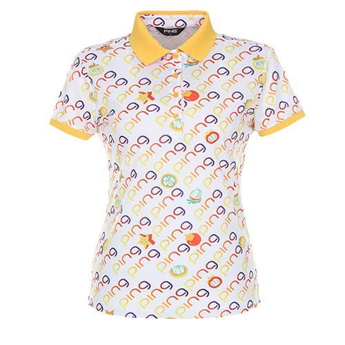 [핑]여성 망고스틴 모티브반팔 티셔츠 12172TO065_WH