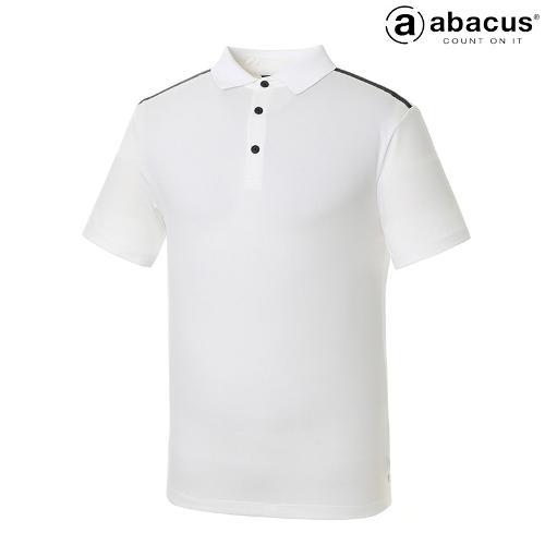 ★[아바쿠스] 남성 뒷 띠배색 카라 반팔 티셔츠 AI21TSM6655_100