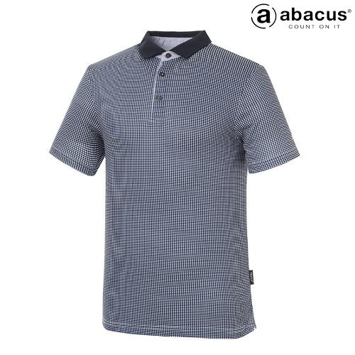 ★[아바쿠스] 남성 사각 체크 카라 반팔 티셔츠 AI21TSM6629_300