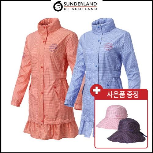 선덜랜드 여성 완벽방수 후드 사파리 비옷 - 16712RC63 (사은품 방수모자 증정)