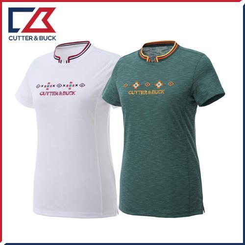 커터앤벅 여성 면소재 반팔티셔츠 - PB-11-192-201-21