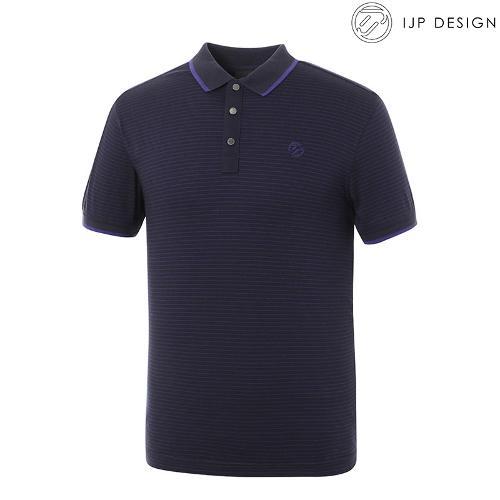 ★[IJPD] 남성 코튼 핀스트라이프 카라 반팔 티셔츠 SS171_129
