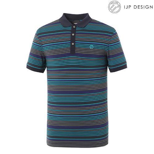 ★[IJPD] 멀티 스트라이프 카라 반팔 티셔츠 SS176_000