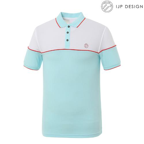 ★[IJPD] 남성 캐주얼 배색 카라 반팔 티셔츠 SS190_151