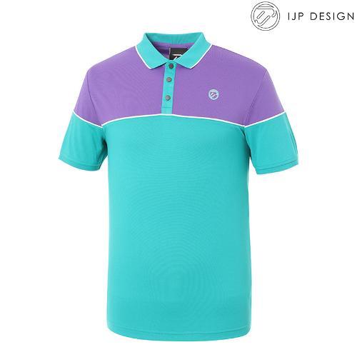 ★[IJPD] 남성 캐주얼 배색 카라 반팔 티셔츠 SS190_157