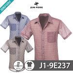 [JEAN PIERRE] 쟌피엘 벌집 패턴 남방 반팔셔츠 Model No_J1-9E237