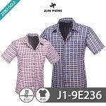 [JEAN PIERRE] 쟌피엘 체크 남방 반팔셔츠 Model No_J1-9E236