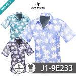 [JEAN PIERRE] 쟌피엘 야자수 패턴 남방 반팔셔츠 Model No_J1-9E233