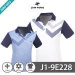 [JEAN PIERRE] 쟌피엘 사선 포인트 카라 냉감 반팔티셔츠 Model No_J1-9E228