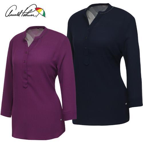 [아놀드파마] 스트레치 여성 오픈 차이나카라 7부 셔츠/골프웨어_245538