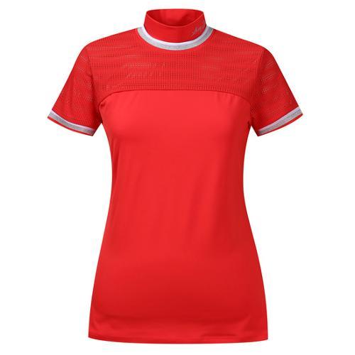 [르꼬끄골프] [60% OFF]여성 매쉬 하이브리드 하이넥 반팔 티셔츠 (G8222LTS43)