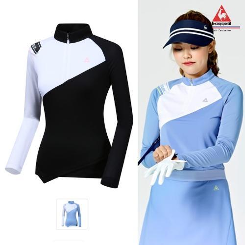 [르꼬끄골프] [판매BEST]여성 배색 선가드 냉감 긴팔티셔츠 (G9222LTL52)