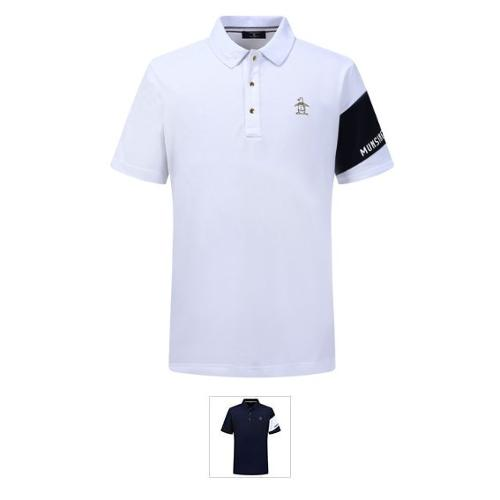 남성 수입 금장 단추 폴로 반팔 티셔츠 (M9211MTS43)