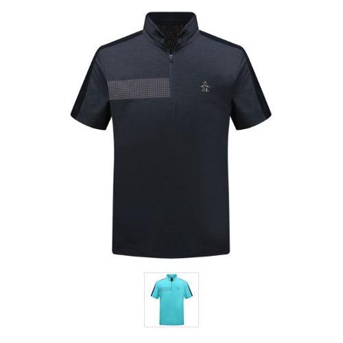 [19SS 신상]남성 냉감 투톤 등판 펀칭 반팔 티셔츠 (M9221MTS4C)