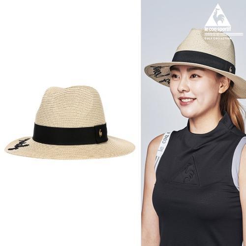 [르꼬끄골프] [19SS]여성 레터링자수 천연초 모자 (G9222LCP52)