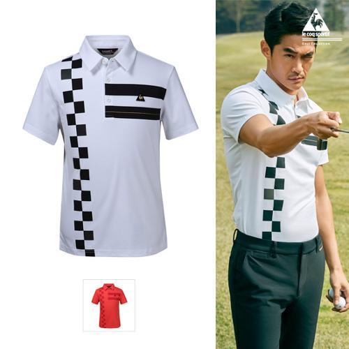 [40% OFF]남성 변형체크포인트 티셔츠 (G8221MTS35)
