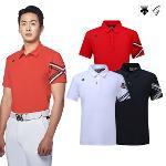 [데상트골프] [판매BEST]남성 소매 원포인트 반팔 티셔츠 (D922MFTS45)