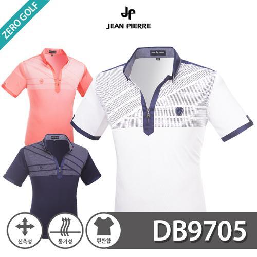 [JEAN PIERRE] 쟌피엘 트라이앵글 패턴 하프집업 반팔티셔츠 Model No_DB9705