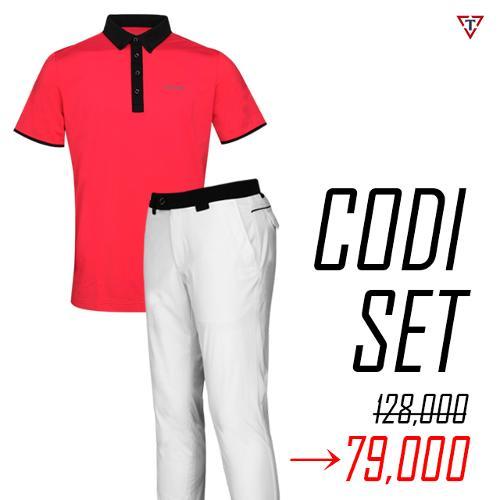 [1+1 세트] 토드휴 여름 슬림핏 골프웨어 아이스쿨 셔츠 M6 + 로버 시리즈 골프바지-99,000원