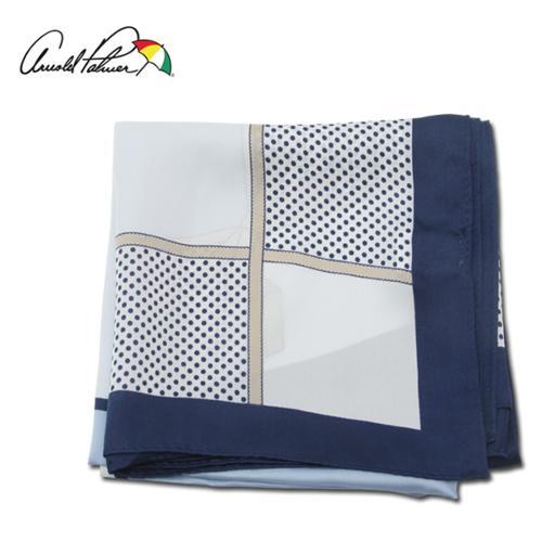 [아놀드파마] 도트 고급스러운 사각 컬러블럭 여성 손수건/골프용품_ALX9OM02