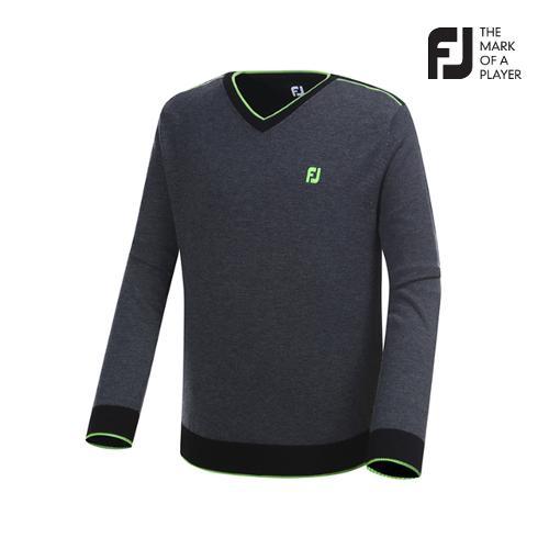 [풋조이] 남성 컬러 블록 스웨터 23468_GA