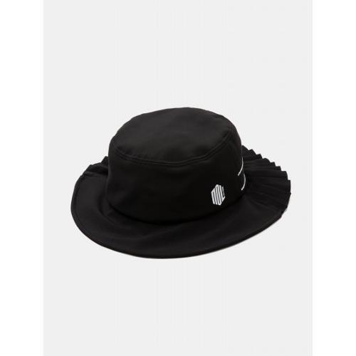 [빈폴골프] [NDL라인] 여성 블랙 플리츠 로고 벙거지 (BJ938BL435)